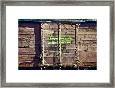 Burlington Northern R R  History Framed Print by Daniel Hagerman