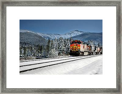 Burlington Northern Santa Fe Framed Print by James David Phenicie