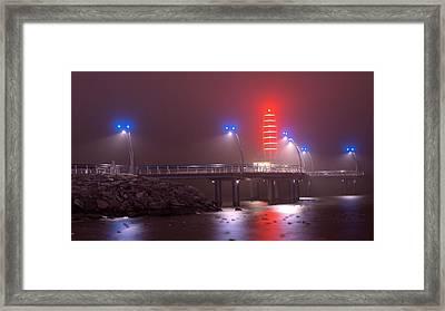 Burlington Pier Framed Print by JR Calcutt