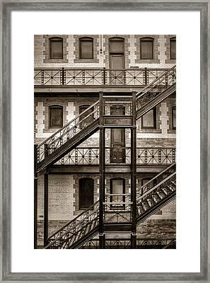 Burlington Place #2 - Sepia - Omaha - Nebraska Framed Print by Nikolyn McDonald