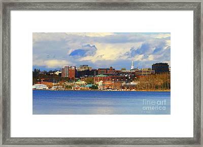 Burlington Vermont Lakefront Framed Print
