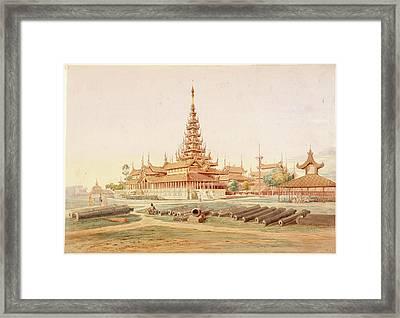 Burmese Landscape Framed Print by British Library