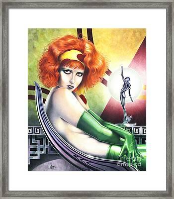 Burn Clara Bow Opus 7 Framed Print by Paul Petro