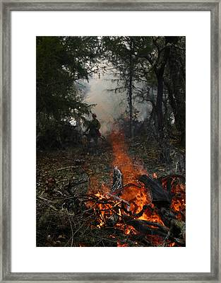 Framed Print featuring the photograph Burn Original by Marie Neder