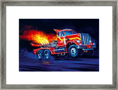 Burn Out Framed Print
