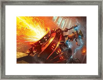 Burn Framed Print by Ryan Barger