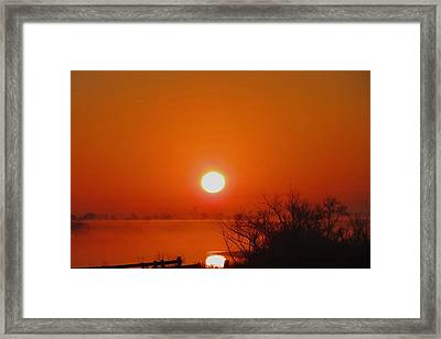 Framed Print featuring the photograph Burn The Fog by David  Norman