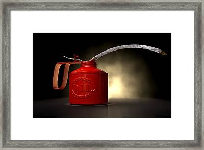 Burn The Midnight Oil Can Framed Print by Allan Swart