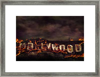 Burn This City Framed Print