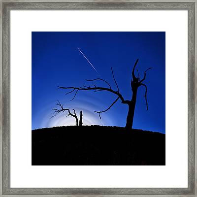 Burned Cedar Shaman Framed Print