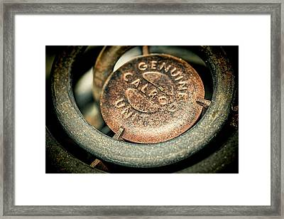 Framed Print featuring the photograph Burner Coils Grunge And Rust by Tracie Kaska