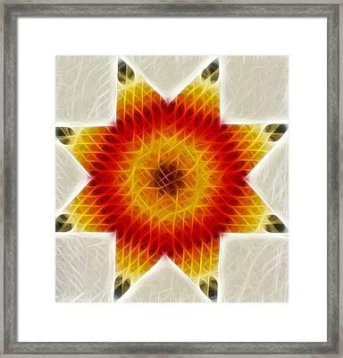 Burnign Star Framed Print by Douglas Barnett
