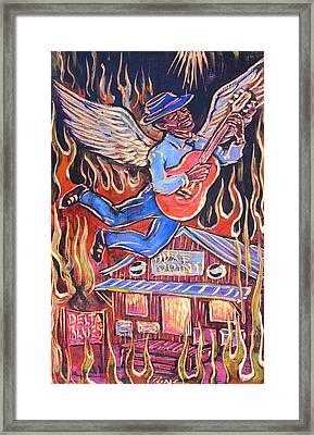 Burnin' Blue Spirit Framed Print