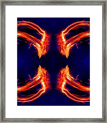 Burning Across Four Horizons 2013 Framed Print by James Warren