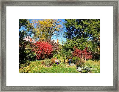 Burning And Smoke Framed Print