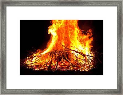 Burning Branches Framed Print by Claus Siebenhaar