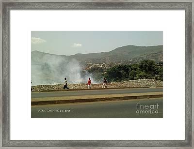 Burning  Burning Burning  Framed Print