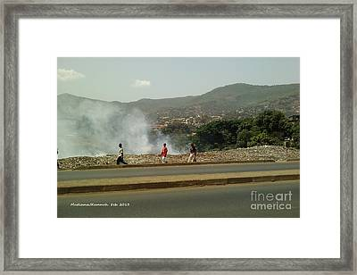 Framed Print featuring the photograph Burning  Burning Burning  by Mudiama Kammoh