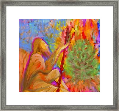 Burning Bush Of Yhwh Framed Print
