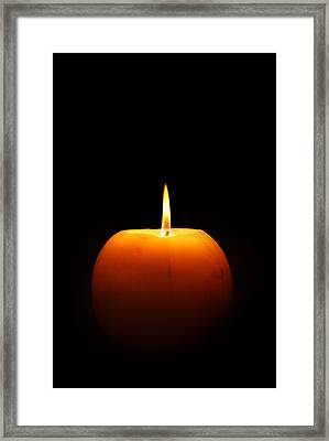 Burning Candle Framed Print by Johan Swanepoel