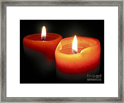Burning Candles Framed Print by Elena Elisseeva