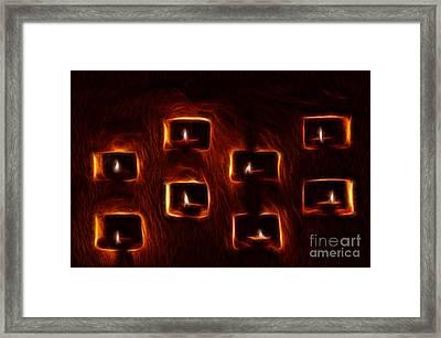 Burning Candles Fractal Art Framed Print by Image World