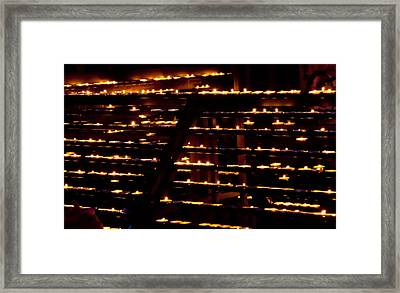 Burning Candles Framed Print by Viacheslav Savitskiy