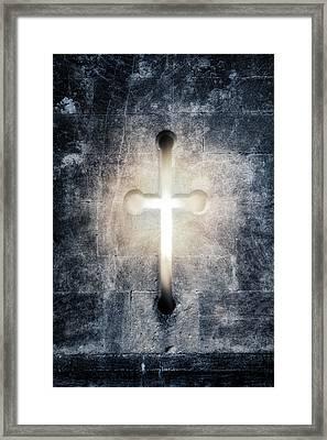 Burning Cross Framed Print