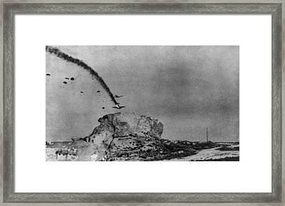 Burning German Glider Plane Framed Print