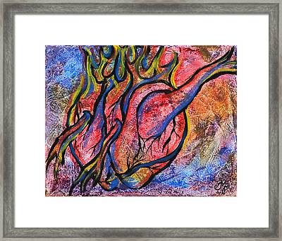 Burning Hearts Framed Print