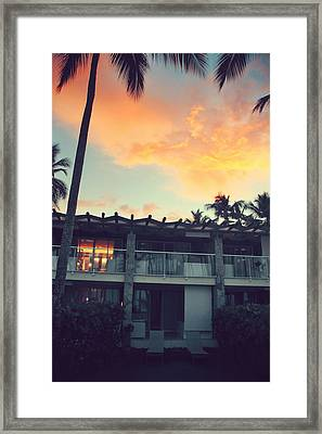 Burning Inside And Out Framed Print by Laurie Search