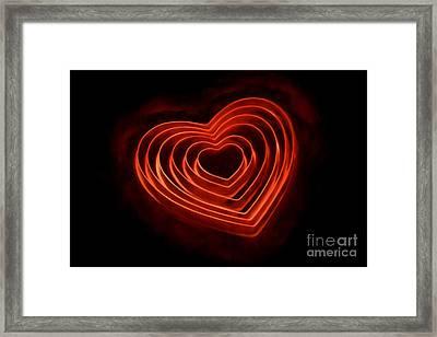 Burning Love Framed Print by Darren Fisher