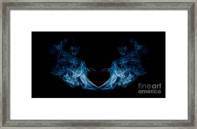 Burning Love Smoke Abstract Framed Print