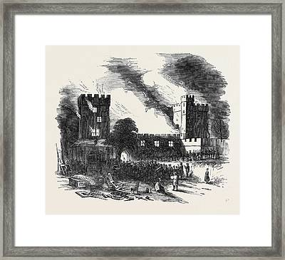 Burning Of Naworth Castle Framed Print