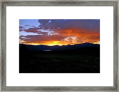 Framed Print featuring the photograph Burning Of Uncertainty by Jeremy Rhoades