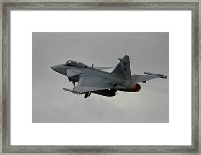 Burning Framed Print by Paul Job