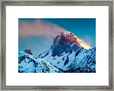 Burning Peak Framed Print by Inge Johnsson