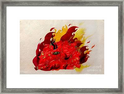 Burning Peppers Framed Print