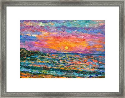 Burning Shore Framed Print by Kendall Kessler