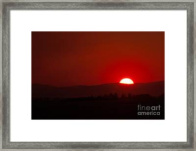 Framed Print featuring the photograph Burning Sky by Charles Kozierok