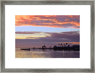 Burning Sky Framed Print by Leticia Latocki