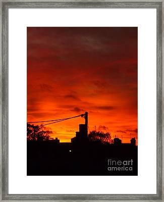 Burning Sky Framed Print by Vicki Spindler