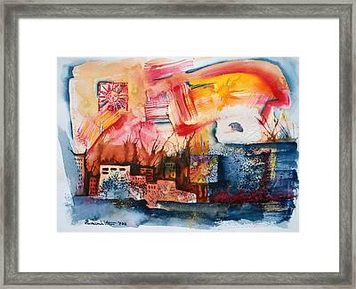 Burning Sunset Framed Print