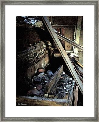 Burning The Joint Down Framed Print