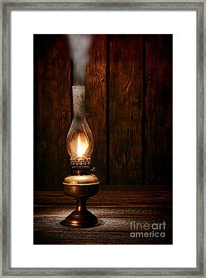 Burning The Midnight Oil Framed Print by Olivier Le Queinec