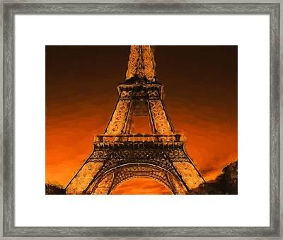 Burning Tower Framed Print