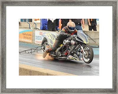 Burning Up The Track Framed Print