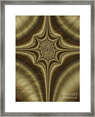 Burnished Bronze Abstract Framed Print by John Edwards