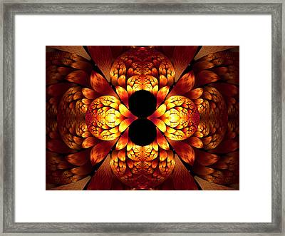 Burnished Framed Print by Lea Wiggins