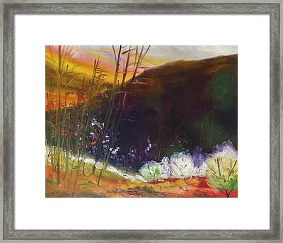 Burnished Sky Framed Print